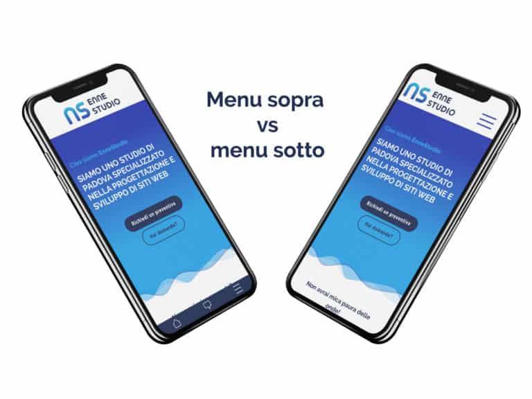 Il menu in mobile è meglio in alto o in basso?